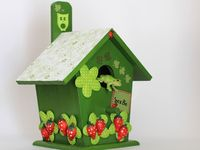 Unique, different birdhouses