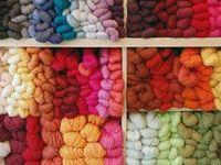knitting and yarn