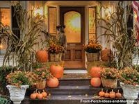 Fall décor and scenery.