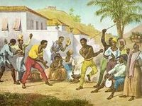 Capoeira is a Brazilian martial art developed by African slaves brought to Brazil. Disguised as a dance to avoid persecution, Capoeira combines acrobatics, danc
