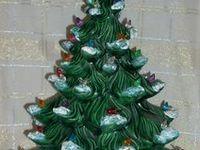 Christmas Vintage - Ceramic Trees