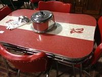 Old 40-50's Table Sets & Medal Chairs