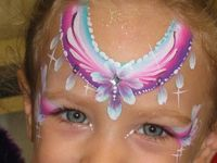 #facepainting ideas for girls, princess crown tiara fairy face paint designs