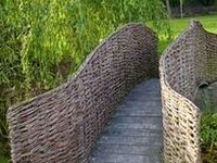 Garden structures made of wicker or willow