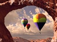 Up up and away, in my beautiful, my beautiful balloon...