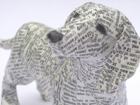 papier mache dieren