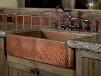 All types of kitchen sinks, including farmhouse / apron sinks, bar sinks, and modern stainless-steel sinks. Faucets, too!
