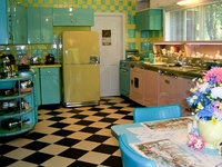 Why oh, WHY did they stop making turquoise stoves?  Or pink... or