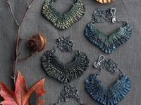 Charming textile jewelry ❀