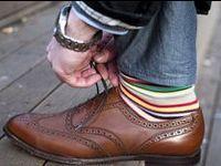 Socks. Designer socks. Men's socks. Wild socks. Sophisticated socks. Foot tubes.