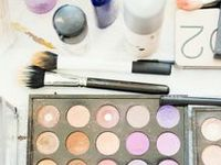 Makeup and beauty products for brides.