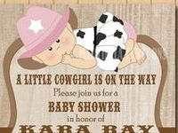 cowgirl and cowboy baby shower ideas, invitations, printables, cakes, decorations and accessories for a perfect cowboy / cowgirl shower party.