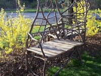 Chairs, benches and stools. Stick, root, log and board. Everything I can find unedited.
