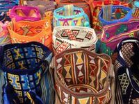 Authentic mochila bags from Colombia.
