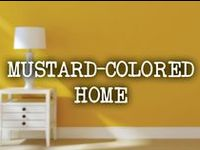 Yellow mustard décor and design for your home.