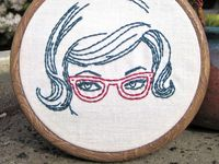 Modern and hip embroidery that lets you be an artist! Free patterns. Needlepoint. Embroidery hoop.