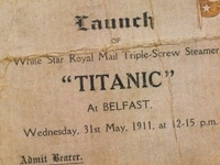 """Pictures of the tragic story of the """"unsinkable"""" Titanic."""