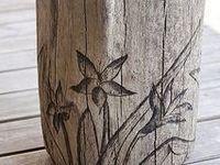 Scroll sawing, wood burning etc