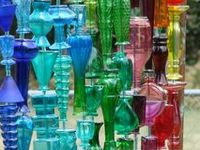 images of consructed glass yard art