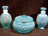 I collect  teal blue opalescent Fenton