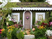 "all kinds of ""little dwellings"" that bring a smile - even a few garden sheds and tree houses!"