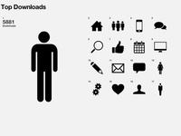 Tiny pictograms, a bit of signaletic maybe, but no realistic icons !