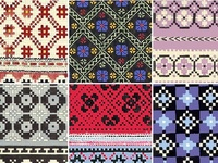 Cross stitch, and schemes