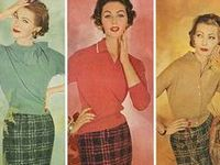 Vintage ephemera for women's fashion -- Lingerie has its own board, as to men's and children's fashions.