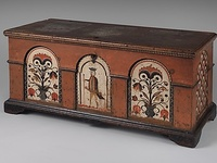 Folk Art Dower Chests and Boxes