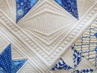I love blue and white. Pure blue is gorgeous, especially when offset by white. I adore quilts and textile art, so this board celebrates those visual passions.