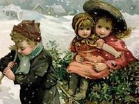 Beautiful images of Christmases long ago.