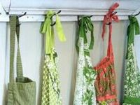 I wear aprons, my granny Acker & gramma Smith wore them.  They are practical for every good cook!