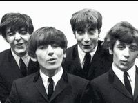 images of John, Paul, George and Ringo <3