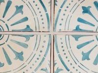 Tabarka blue tile inspired by travels abroad, classic patterns, and colors of the coastline