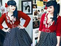 New clothes with a retro flavor. Primarily mid-century fashions, with some 20's and 30's thrown in for good measure.
