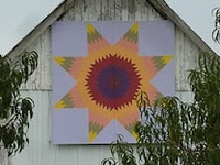Love these barn quilts...an artistic way to bring quilting to part of buildings across the country. There are many in Wisconsin where I live and they are fun to see.