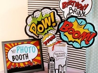 This is a collection of different photo booths, ideas and backgrounds that could be used as fundraiser, a party activity, a wedding activity.  It's a great idea.