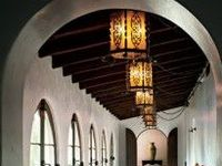 Spanish revival architecture and style elements.