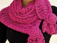 Crochet Scarfs, Shawls and Shrugs