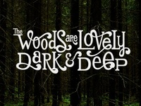 The Woods are Lovely, Dark & Deep