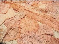 Lace is a beautiful embellishment of life - unnecessary but adding a touch of love and a sense of the past. It brings to mind the women who have gone before me, leaving something of themselves - time, talent and hard work in their works of art.