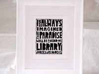 Quotes about libraries, books, and other literary things that we love.