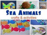 Teach your kids about the animals of the ocean using math, science, crafts, handwriting, snacks, books, music and more!