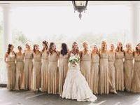 Attire for your big day. #bride #groom #bridesmaid #groomsmen #flowergirl #ringbearer #weddinggowns #gowns #attire