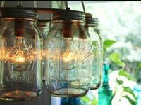 Mason Jars. In case you haven't heard, they're a thing. Painted, sanded, sparkled, stenciled, rustic and modern. Versatile, cheap, adorable. #masonjars