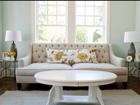 I love how throw pillows can really add color to a dull room!