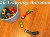 Tons of car and other vehicle craft ideas and learning activities that use vehicles