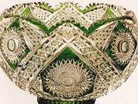 The height of the Brilliant Cut period was from 1876-1917. Always a luxury item due to the high cost of labor to produce such pieces it continues to be highly sought by collectors. Many things conspired to make this some of the best glass in the world during this era and a true American original.