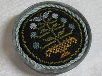 Cross Stitch/Needlework: Flowers Basket/Container