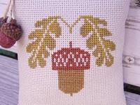 Cross Stitch/Needlework: Squirrels/Acorns/Pine Cones
